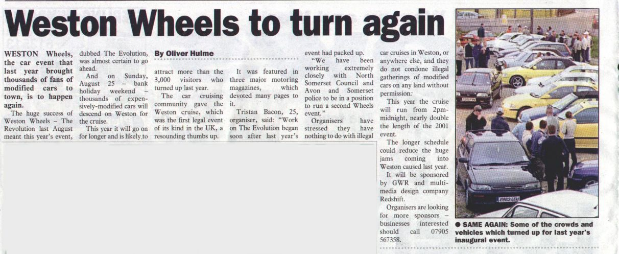 The Weston and Worle News 13 Feb 02